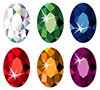 #2000175 - Oval cut precious stones with sparkle