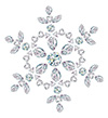 #2000194 - Snowflake made from different cut diamonds
