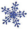 #2000195 - Snowflake made from different cut sapphires