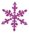 #2000196 - Snowflake made from different cut amethysts