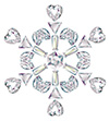 #2000198 - Snowflake made from different cut diamonds
