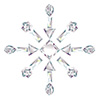 #2000201 - Snowflake made from different cut diamonds
