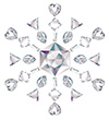 #2000202 - Snowflake made from different cut diamonds