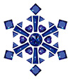 #2000204 - Snowflake made from different cut sapphires