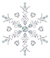 #2000206 - Snowflake made from different cut diamonds isolated on white