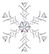 #2000208 - Snowflake made from different cut diamonds isolated on white