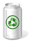 #2000227 - Beverage can with recycle symbol