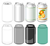 #2000229 - Beverage can in different styles