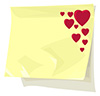 #2000238 - Red hearts on sticky paper