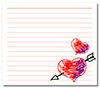 #2000241 - Hand drawn hearts on white note paper
