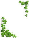 #2000242 - Shamrock corner ornament