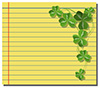 #2000244 - Shamrock on yellow note paper