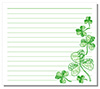 #2000246 - Hand drawn shamrock on white note paper