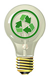 #2000260 - Lightning bulb with recycling symbol
