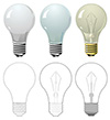 #2000262 - Lightning bulb in different styles