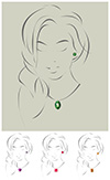 #2000289 - Illustration of beautiful jewelry model