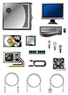 #2000292 - Illustration of various computer parts and accessories
