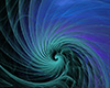 #2000396 - Abstract blue and purple spiral on black background