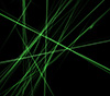 #2000408 - Abstract green lines on black background