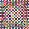 #2000412 - Abstract geometric background made of circles