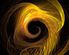 #2000418 - Abstract fire spiral on black background